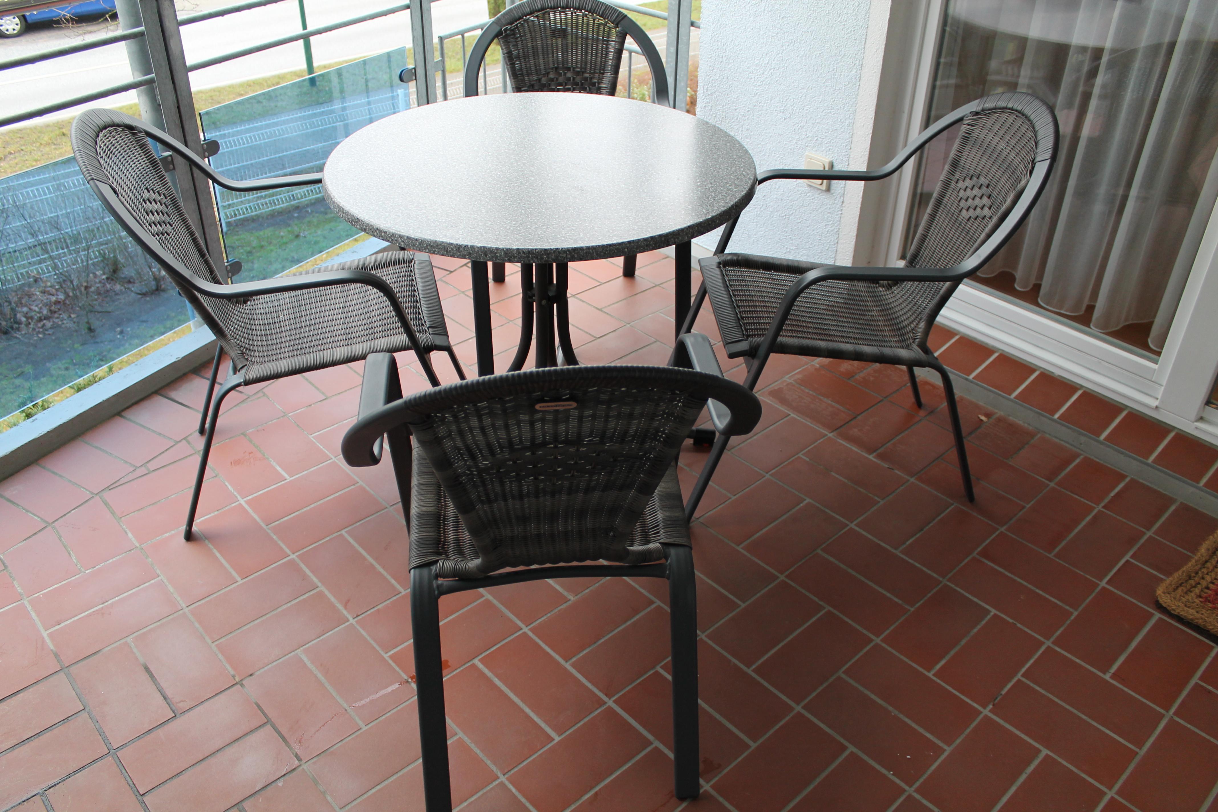 ferienwohnung balkon - ostseeallee 25